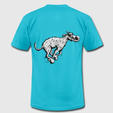 Running Irish Wolfhound  - Men's Fine Jersey T-Shirt