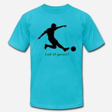 Soccer Player Silhouette 03 - Men's Jersey T-Shirt
