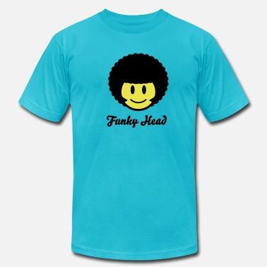 Iconic Soul Afro Smiley Icon 2c - Men's Jersey T-Shirt
