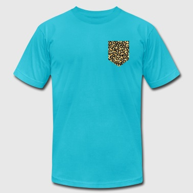 animal print fake pocket - Men's Fine Jersey T-Shirt