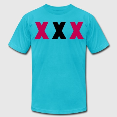 TRIPLE XXX X rated three  - Men's Fine Jersey T-Shirt