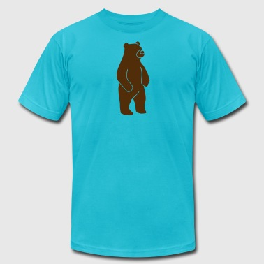 Wildlife: Grizzly bear - Men's Fine Jersey T-Shirt