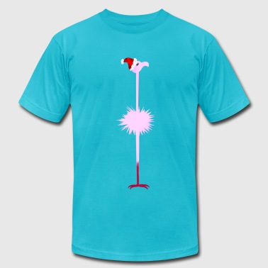 Pink Christmas Flamingo 2 - Men's Fine Jersey T-Shirt