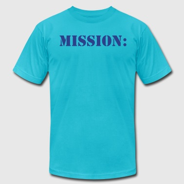 mission: military army navy in stencil - Men's Fine Jersey T-Shirt