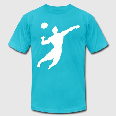 volleyball player - Men's Fine Jersey T-Shirt