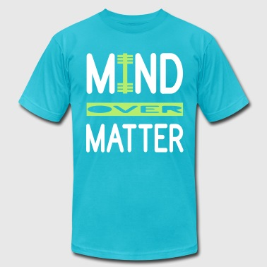 Mind Over Matter WOD and Weight Lifting - Men's Fine Jersey T-Shirt