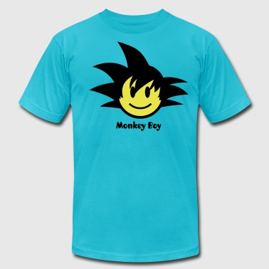 Kung Fu Monkey Smiley Son Guku Icon 2c - Men's Fine Jersey T-Shirt