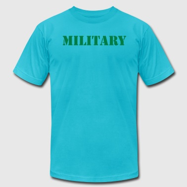 MILITARY in stencil - Men's Fine Jersey T-Shirt