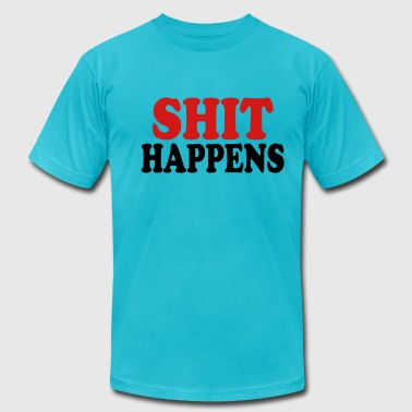 Shit happens - Men's Fine Jersey T-Shirt
