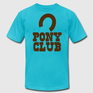 PONY CLUB with horseshoe - Men's Fine Jersey T-Shirt