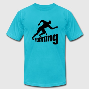 running man - Men's Fine Jersey T-Shirt