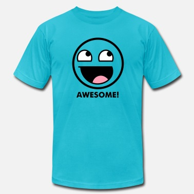 4chan Kids & Awesome Smiley 3c - Men's Jersey T-Shirt