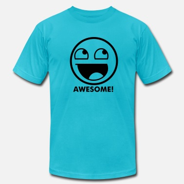 4chan Kids & Awesome Smiley 1c - Men's Jersey T-Shirt