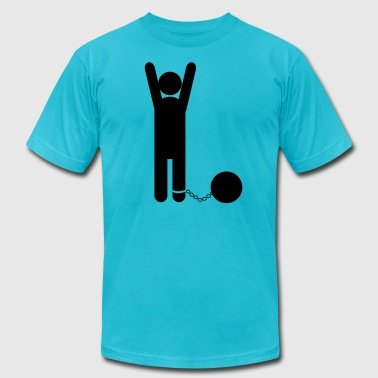 man in ball and chain clean - Men's Fine Jersey T-Shirt