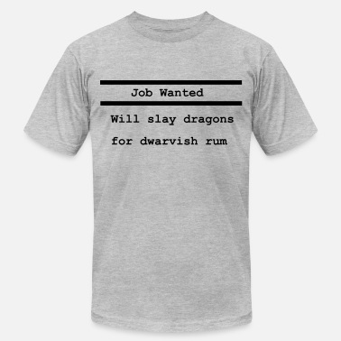 Role Playing Game Job Wanted - Men's Jersey T-Shirt