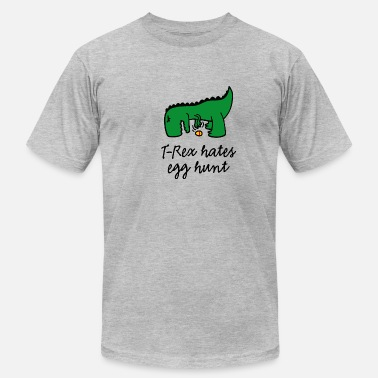 Trex T-Rex hates egg hunt Happy Easter egg searching - Men's Jersey T-Shirt