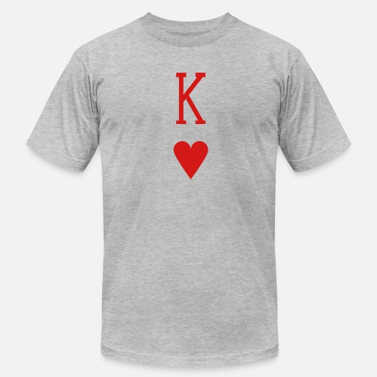 King T-Shirts - King of Hearts - Men's Jersey T-Shirt heather gray