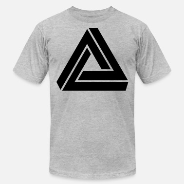 Triangle Triangle mathematical Escher endless knot infinity - Unisex Jersey T-Shirt