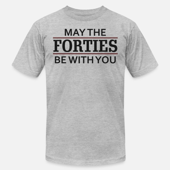 Birthday T-Shirts - May the Forties Be With You - Men's Jersey T-Shirt heather gray