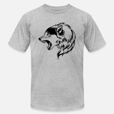 wolf angry face - Men's  Jersey T-Shirt