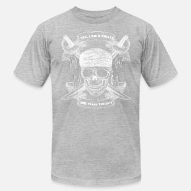 Jimmy Buffett Yes I Am A Pirate 200 Years Too Late Skull Design - Men's Jersey T-Shirt