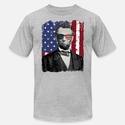 6e927305 Abe Lincoln America USA Flag Style Patriotic Design Men's Jersey T-Shirt |  Spreadshirt