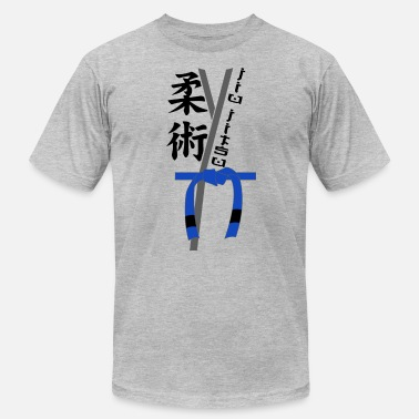 Jiu Jitsu Bjj Gi Blue Belt Brazilian BJJ Dark - Men's Jersey T-Shirt