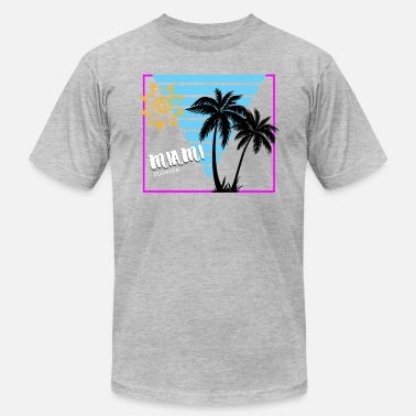 Florida Palm Tree Miami Florida Sun & Palm Trees Souvenir - Men's Jersey T-Shirt