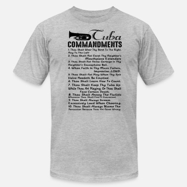 10 Commandments 10 Tuba Commandments Shirt - Men's  Jersey T-Shirt
