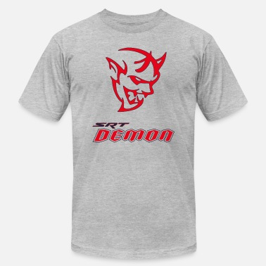 Demon DODGE DEMON HEAD - Men's Jersey T-Shirt