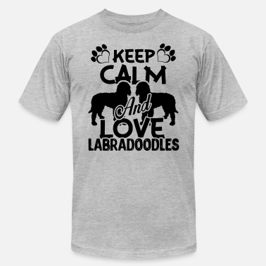 Labradoodle Clothes Keep Calm And Love Labradoodle Shirt - Men's  Jersey T-Shirt