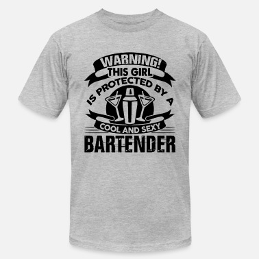 Sexy Bartender Protected By Sexy Bartender Shirt - Men's Fine Jersey T-Shirt