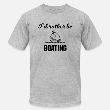 Rather Be Boating I'd Rather Be Boating - Men's Fine Jersey T-Shirt