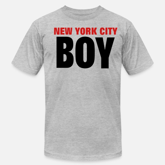 York T-Shirts - NEW YORK CITY BOY - Men's Jersey T-Shirt heather gray