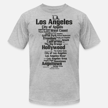 Hollywood Souvenir Los Angeles (L.A. Angeltown, City of Angels) - Men's Jersey T-Shirt