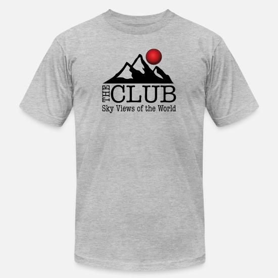 World T-Shirts - The club - Sky Views of the World - Men's Jersey T-Shirt heather gray