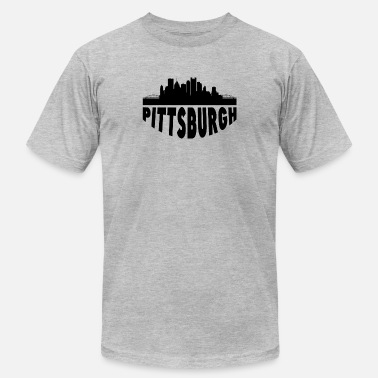 Pittsburgh Skyline Pittsburgh PA Cityscape Skyline - Men's Jersey T-Shirt