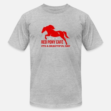 Red Cafe Red Pony Cafe - Men's Fine Jersey T-Shirt