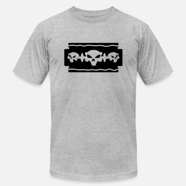 Razor Blade Emo razor blade and skull - Men's  Jersey T-Shirt