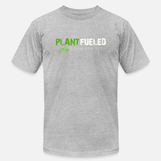Vegan T-Shirts - Plant Fueled Vegan Athlete - Men's Jersey T-Shirt heather gray