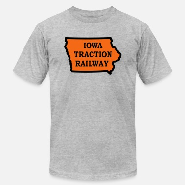 Tracks Iowa Traction Railway - Men's  Jersey T-Shirt