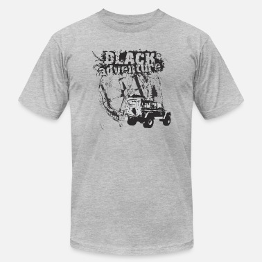 Adventur Car Black adventure with offroad car - Men's  Jersey T-Shirt
