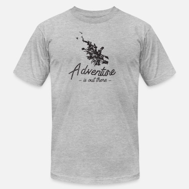 Adventure is out there Campfire Flame Silhouette - Men's  Jersey T-Shirt