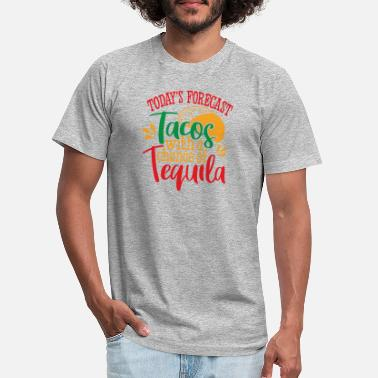 Battle Today Forecast Tacos with Tequila - Unisex Jersey T-Shirt