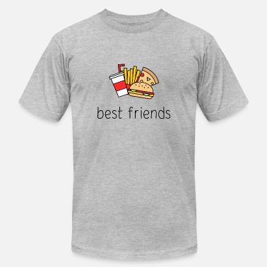 Burger And Fries Best Friend Best Friends, French Fries, Burgers, Fast Food - Men's  Jersey T-Shirt