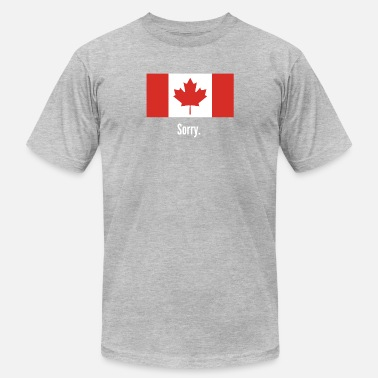Canadian Slogan canada sorry - Men's Fine Jersey T-Shirt