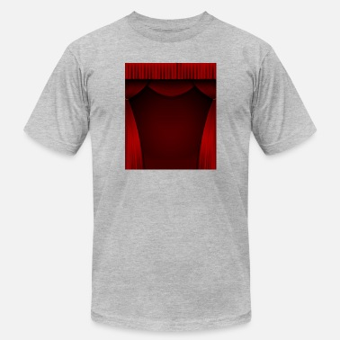 Curtain Red curtain background - Unisex Jersey T-Shirt
