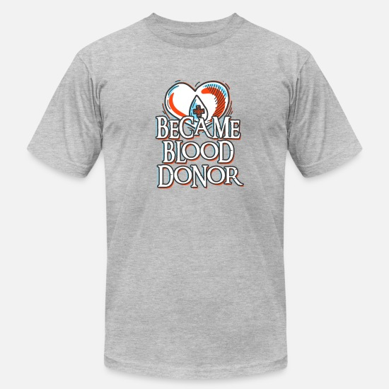 Donor T-Shirts - Become Blood Donor - Men's Jersey T-Shirt heather gray