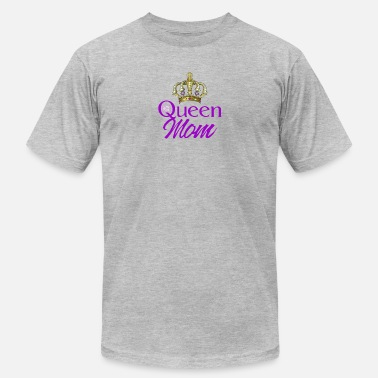 Queen Mom Queen Mom With Crown and Purple Rose - Men's  Jersey T-Shirt