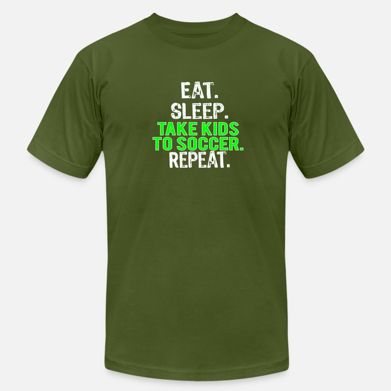 8f23f522f Funny Soccer Mom & Dad or Parents Gift Eat Sleep Take Kids to Soccer Repeat  Men's Jersey T-Shirt   Spreadshirt